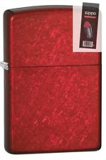 Zippo 21063 candy apple red Lighter + FLINT PACK