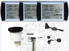 WH1080 SE TRIPLE (3 Displays) Profi Funk Wetterstation Solar (Neuer Außenmast)