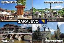 SOUVENIR FRIDGE MAGNET of SARAJEVO BOSNIA