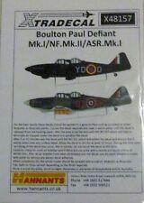 Xtradecal 1/48 X48157 BP Defiant Mk I/NF Mk II/ ASR Mk I  Decal Sheet