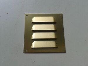 Möbellüftung Lüftungsblech Eckiges Möbelgitter weiß oder golddton Truhe Schrank