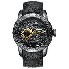 2018 New Fashion 3D Sculpture Dragon Men's Quartz Watches BIDEN Gold Watch