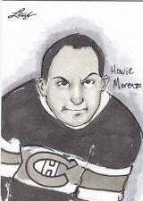 2012-13 LEAF HOWIE MORENZ 1/1 AUTO SKETCH CARD BY JASON DURDEN 12-13