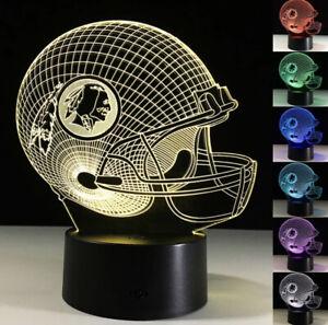Washington Redskins LED Light Lamp Collectible Alex Smith Home Decor Gift