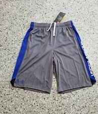 New Under Armour Youth Boys Athletic Sport Gray Shorts Pants Size:  Small