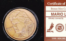 Mario Lemieux Bronze Coin from Highland Mint w/case and certificate #00075