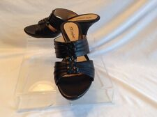 I Luv Comfort ladies black leather slide sandal in size 9 medium