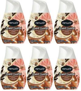 (Pack of 6) Renuzit Vanilla, Apricot Blossom, & Almond Cone Air Freshener - 7 oz
