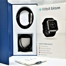 FITBIT BLAZE Smart Fitness Watch, Black, Silver, Small, IOB Complete