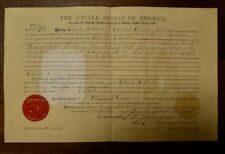 United States Land Grant -  Michigan - Signed President Ulysses S Grant 1876