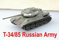 Easy Model 1/72 Russian Army T-34/85 Tank Plastic Model #36270