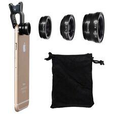 Universal-3in1 Clip On Camera Lens Kit Fisheye+ Makro für Handy + Weitwinkel