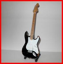 ERIC CLAPTON GUITARE MINIATURE BLACKIE ! Stratocaster Noire Blues Rock Hero