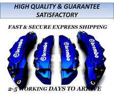 NEW BIG & MEDIUM DARK BLUE CAR BRAKE CALIPER COVERS F/REAR 4 PCS