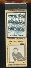 1936-39 Diamond Matchbook Hockey Type 2   Murray Murdoch   NY Rangers   LOOK !!