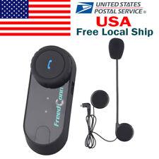 Bluetooth Motorcycle Helmet Intercom BT Bicycle Interphone Communicator Headset