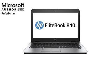 FHD HP ELITEBOOK 840 G4, i7 7600U, 16GB, 256GB SSD, WIN 10 PRO, 1YR WTY