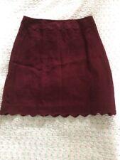 Gorgeous HOBBS LONDON scolloped Hem Skirt-sz 10/ Like 8 Aubergine Never Worn