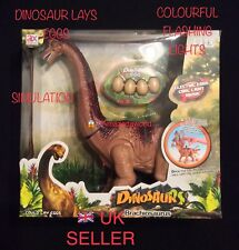 Battery Operated Dinosaur Brachiosaurus lays egg Toy Roaring sound and walk gift