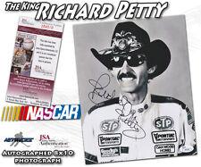 "RICHARD PETTY Signed NASCAR RACING ""THE KING"" 8x10 - JSA #I84500"