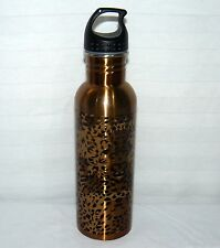 STAINLESS STEEL LEOPARD PRINT 18 OZ WATER BOTTLE TRAVEL USED