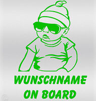 Wunschname on Board Baby Aufkleber Hangover sticker - Kind an Bord Fun Carlos