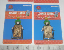 LOT OF 2 MARVIN THE MARTIAN BOOKMARK LOONEY TUNES 1997