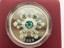 Canada 20$ Canada 20$ Crystal Snowflake Proof Silver Coin  2009 year