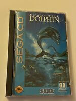 🔥 ECCO THE DOLPHIN (Sega CD, 1993) MIB - TESTED & WORKS 💯 COMPLETE GAME 🔥