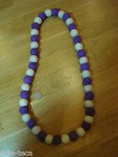 collana lana cotta nepal perle di lana bigiotteria colorata affare regalo natale