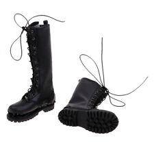 1 Pair 1/6 Male Figure Boots Men Shoes for 12inch Soldier Figure Accessory A