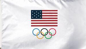 USOC Team USA Logo Deluxe Grommet Flag Olympic Team Licensed 3' x 5'