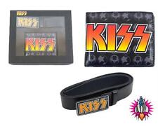 OFFICIAL KISS ROCK BI FOLD WALLET AND BELT GIFT SET NEW SIZE S-M