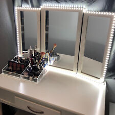 LED Lighted Touch Screen Tabletop Vanity Makeup Mirror