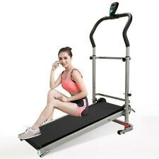 New listing Folding Manual Treadmill Walking Machine Cardio Fitness Exercise Incline Home