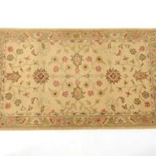 Classic Pottery Barn Webster Tapis 100% New Wool Rug Area 3x5' Golden Wheat Blue