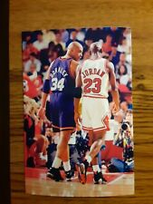 New listing Michael Jordan Bulls Charles Barkley Suns Basketball 4x6 Game Photo Picture Card