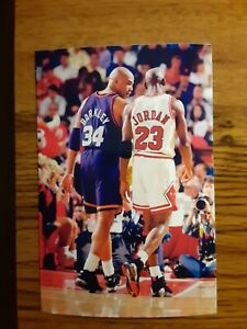 Michael Jordan Bulls Charles Barkley Suns Basketball 4x6 Game Photo Picture Card