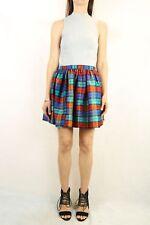 VINTAGE Tartan Taffeta Full Skirt Size S-M (10-12)