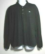 LACOSTE  BLACK SIGNATURE LONG SLEEVES COTTON MESH CASUAL TOP. LAC848W