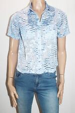 Portmans Designer Blue Short Sleeve Shirt Top Size 8-XS BNWT #SN65