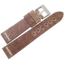 22mm ColaReb Roma Mud Brown Distressed Leather Made in Italy Watch Band Strap