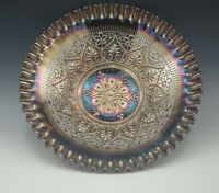 """FENTON CARNIVAL GLASS HEARTS AND FLOWERS 11"""" FOOTED BOWL"""