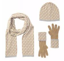 NWT Michael Kors Logo Scarf, Hat & Gloves Set, $98