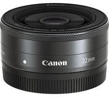 CANON EF-M 22 mm f/2 STM Pancake Lens Black Compatible with Canon EF-M mount