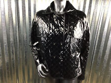 Calvin Klein Quilted Faux Patten Leather Inspired Peacoat Jacket Size Large