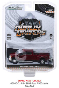 Greenlight Ford F-350 Lariat King Ranch Dually 2019 Ruby Red 46010 D 1/64