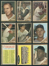 (33265) 1962 Topps Baseball Partial Set Clemente Aaron Fox Santo Ruth Yankees