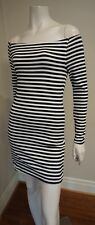 KOOKAI black and white off the shoulder dress - size 1 (6-8)