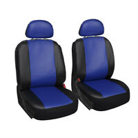 2pcs Blue + Black Car Seat Covers Bucket Protector Cushion Universal